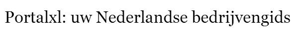 Portalxl: uw Nederlandse bedrijvengids